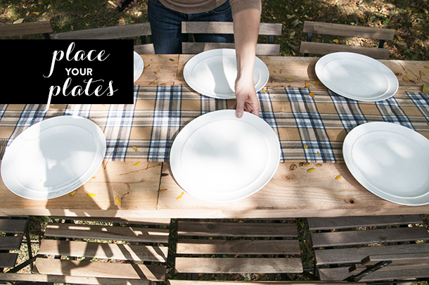 place your plates
