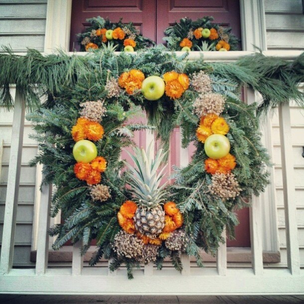 wreath porch