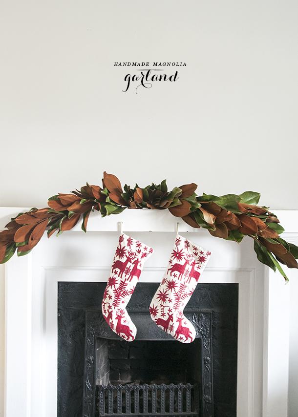 handmade holiday garland