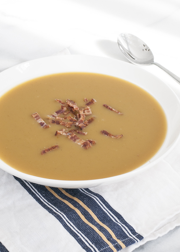 butternut squash with bacon and apple soup