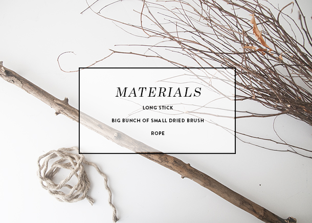 materials for broom