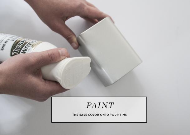 painted tea tins gift idea