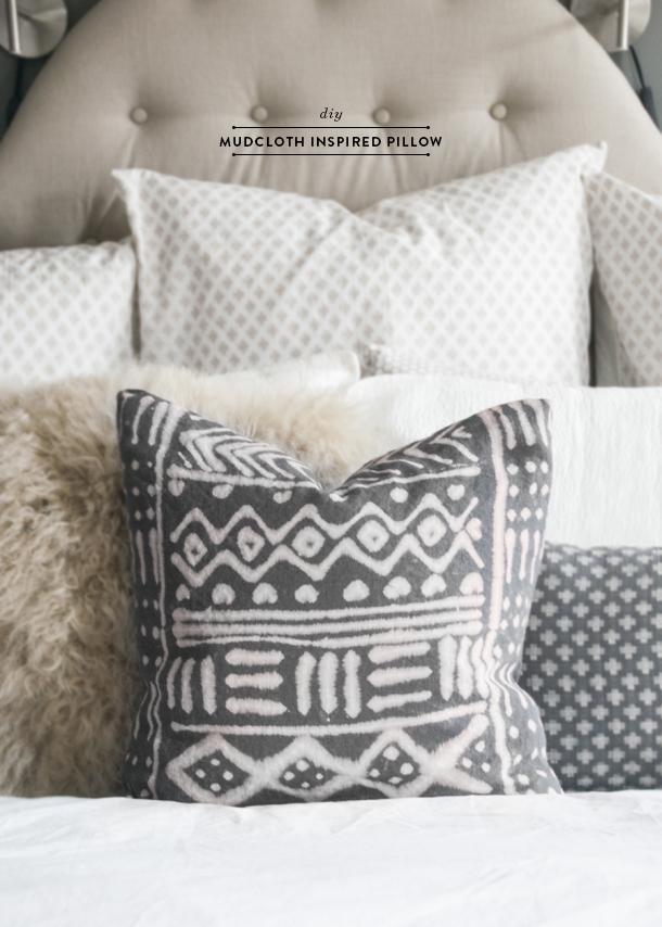 diy mudcloth pillow