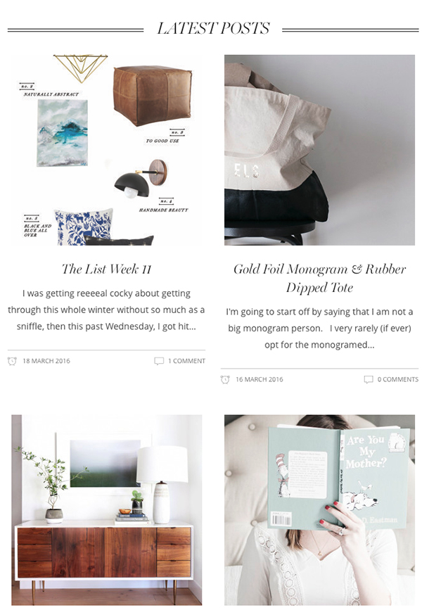 latest posts home page