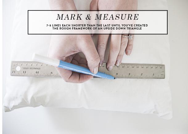 yarn fringe pillow measure