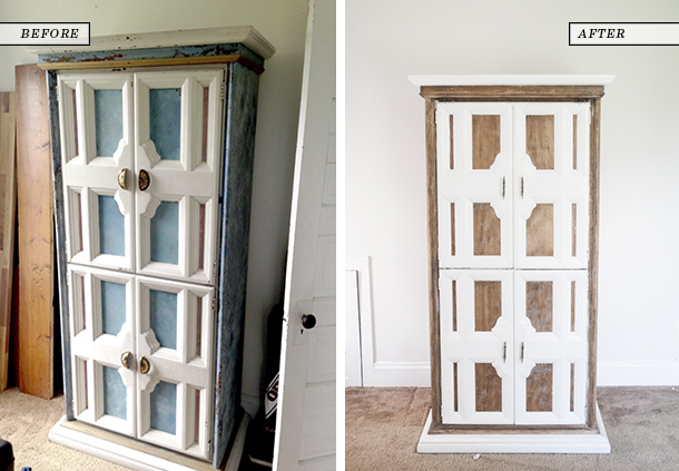armoire before and after