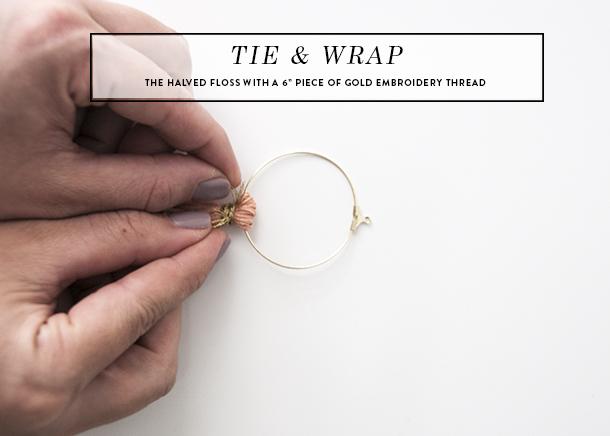 tassel earring DIY tutorial 4