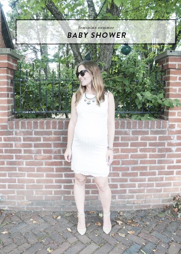 feminine summer baby shower