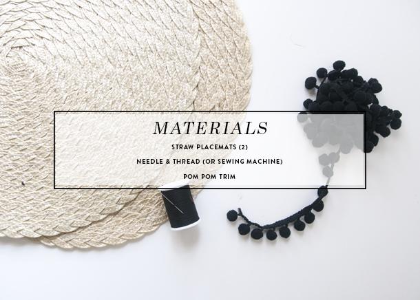 pom pom straw clutch diy materials