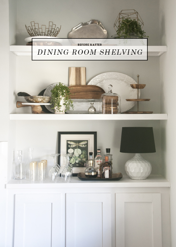 Before And After Dining Room Open Shelving
