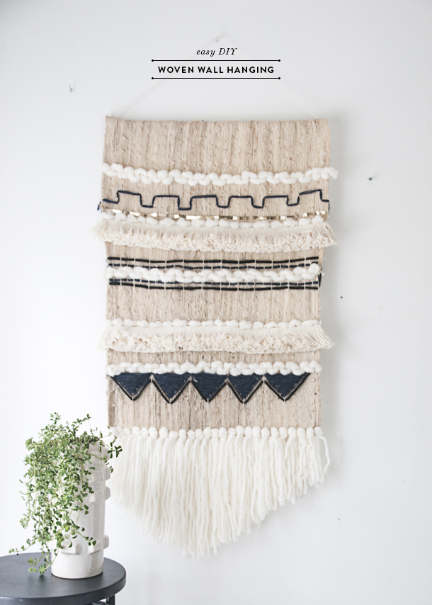 easy diy woven wall hanging