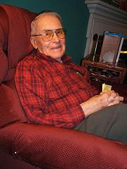 older gentleman sitting in chair