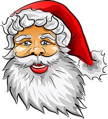 drawing of Santa Claus' face