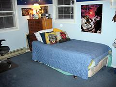 clean boy's bedroom