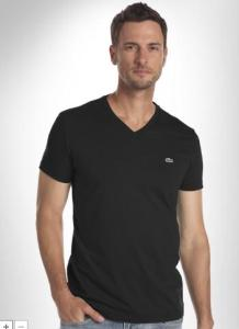 LACOSTE PIMA COTTON V-NECK TEE