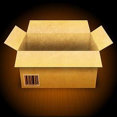 cardboard box on flat surface