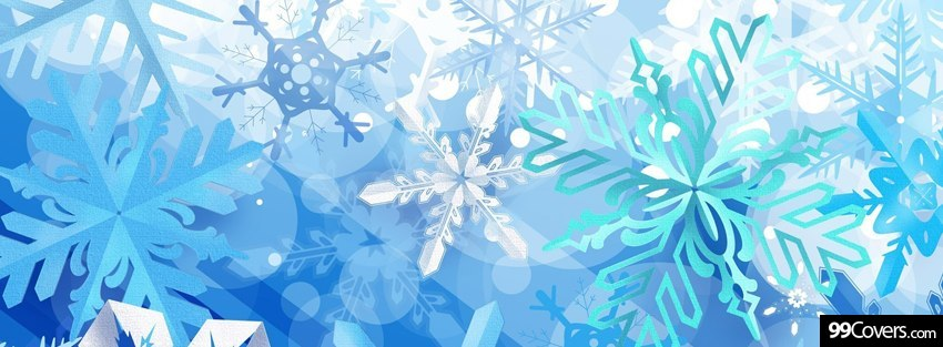 snowflakes facebook cover by 99covers.com