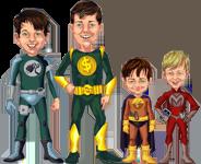 cartoon of the Earnest Parenting boys
