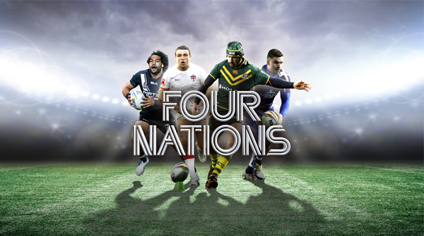 Four nations central creative with four top players from different each country. Earnie creative design