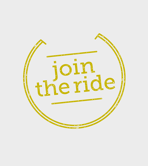 Join the Ride Logo. Earnie creative design