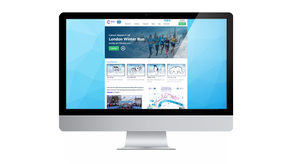 London Winter Run 2017 Website. Earnie creative design
