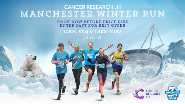 Manchester Winter Run 2017. Earnie creative design