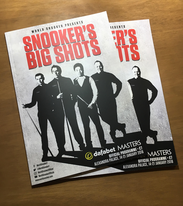 World Snooker Dafabet Masters Official Programme. Earnie Creative Design.