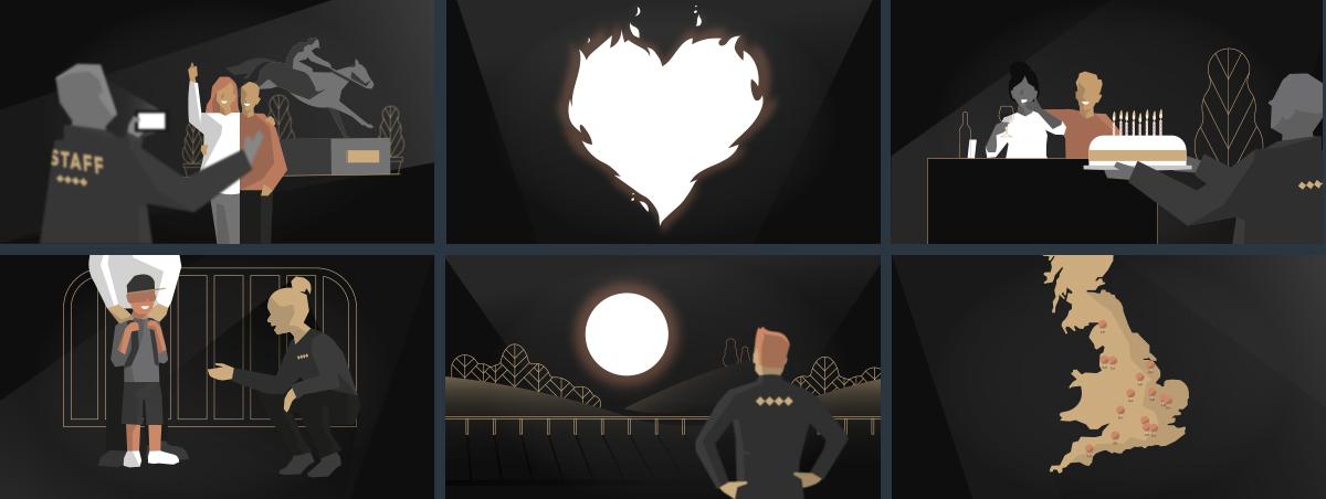Jockey Club Animation Frames. Earnie Creative Design.