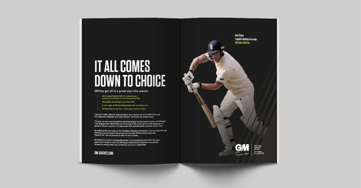 GM- It All Comes Down to Choice Programme with Dawid Malan. Earnie creative design