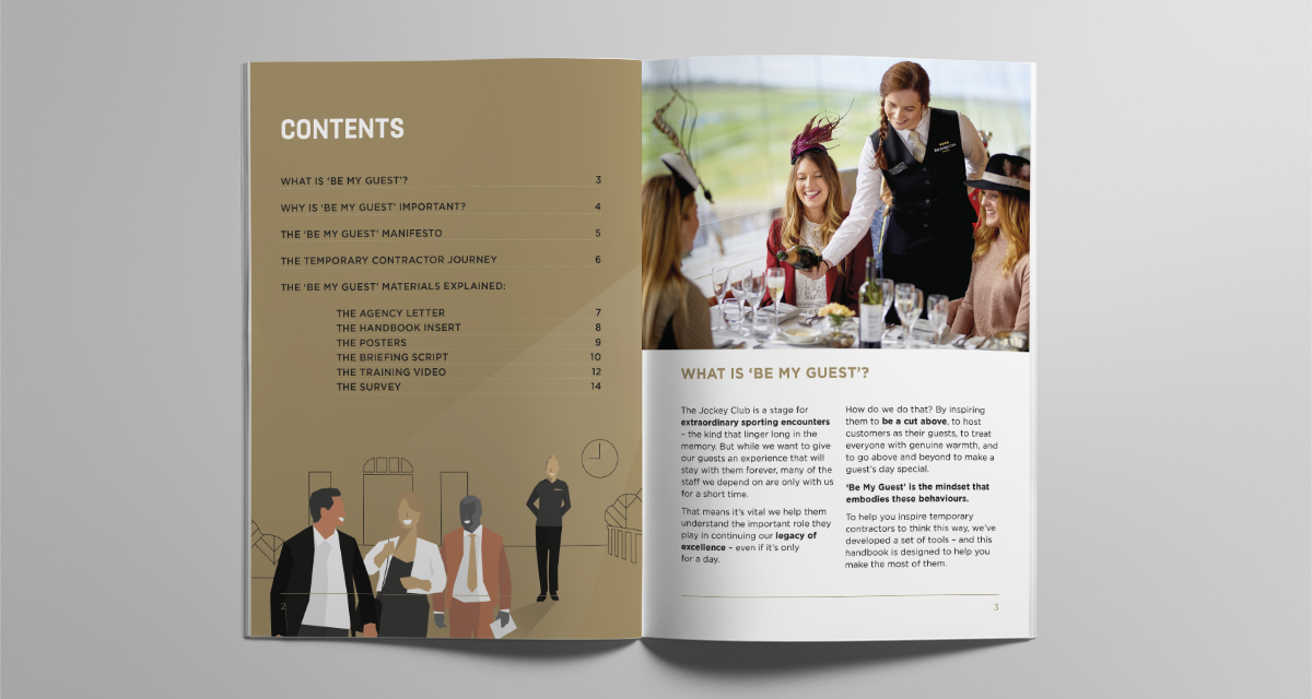 The Jockey Club- Staff Engagment Programme pages creative design. Earnie Creative Design