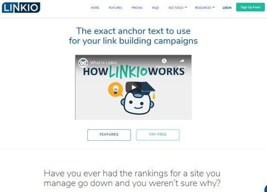 Linkio Online SEO Tool