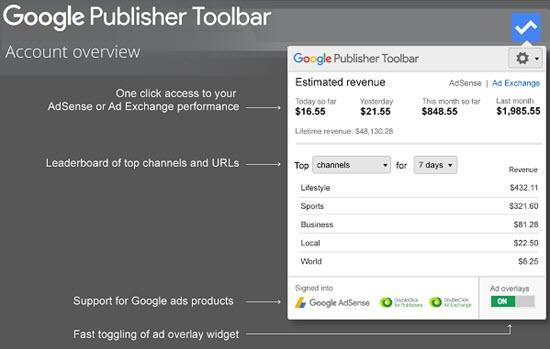Google AdSense Chrome App