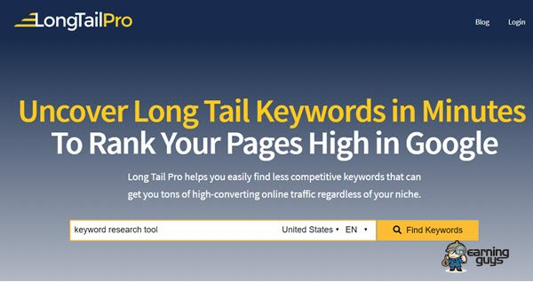 Long Tail Pro Keyword Research Tool