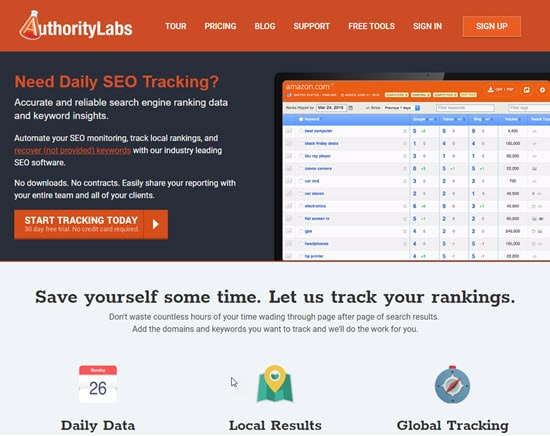 Authority Labs search engine position tracker