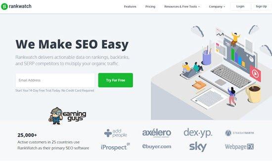 Rank Watch backlink analysis tool