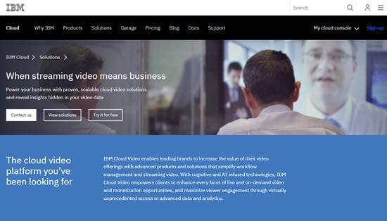 IBM Cloud Video live streaming platform
