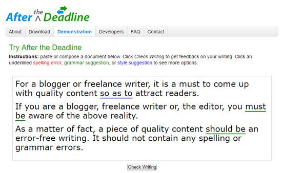 PolishMyWriting Online Proofreading Tools