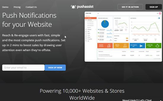 PushAssist Website Push Notification
