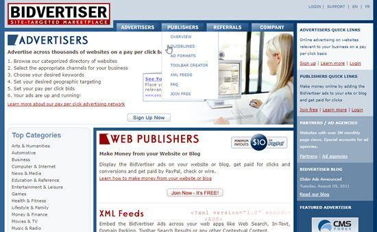 Bidvertiser Pay Per Click Ad Networks