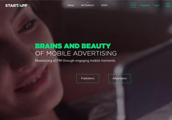 StartApp mobile advertising platform