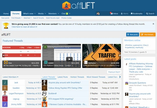 affLIFT Forum for Affiliates