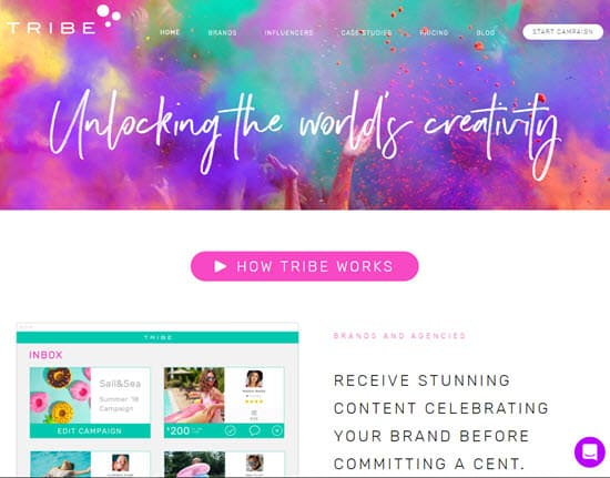 Tribe Influencer Marketing Tool