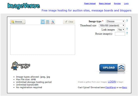 ImageVenue Free Image Hosting