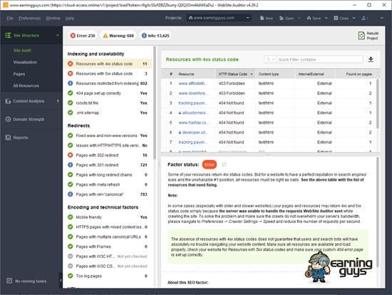 Website Auditor Software