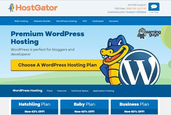 HostGator Hosting WordPress