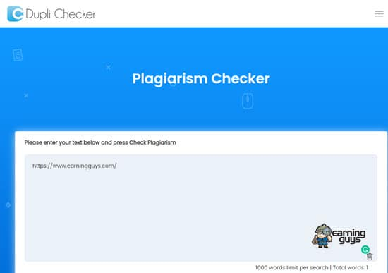 Dupli Checker Duplicate Content Checker