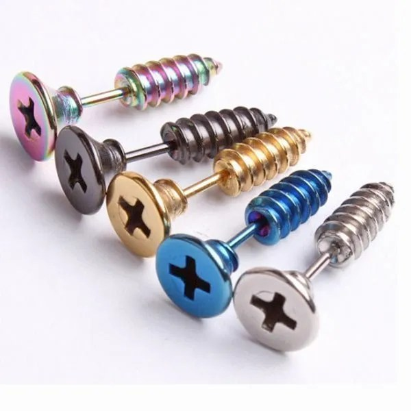 fb07ee7cd Screw Stud Stainless Steel Men Earrings | Earrings for Men