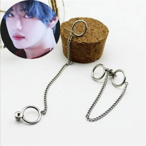 KPOP BTS Bangtan Boys Hyperbole Stud Men Earrings3