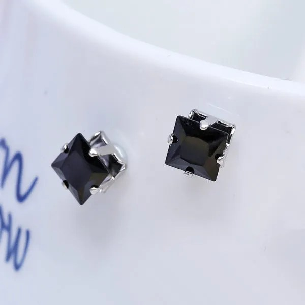 Square Magnetic Stud Men Earrings