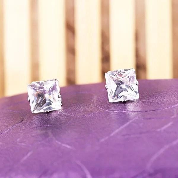 SquareMagnetic Stud Men Earrings
